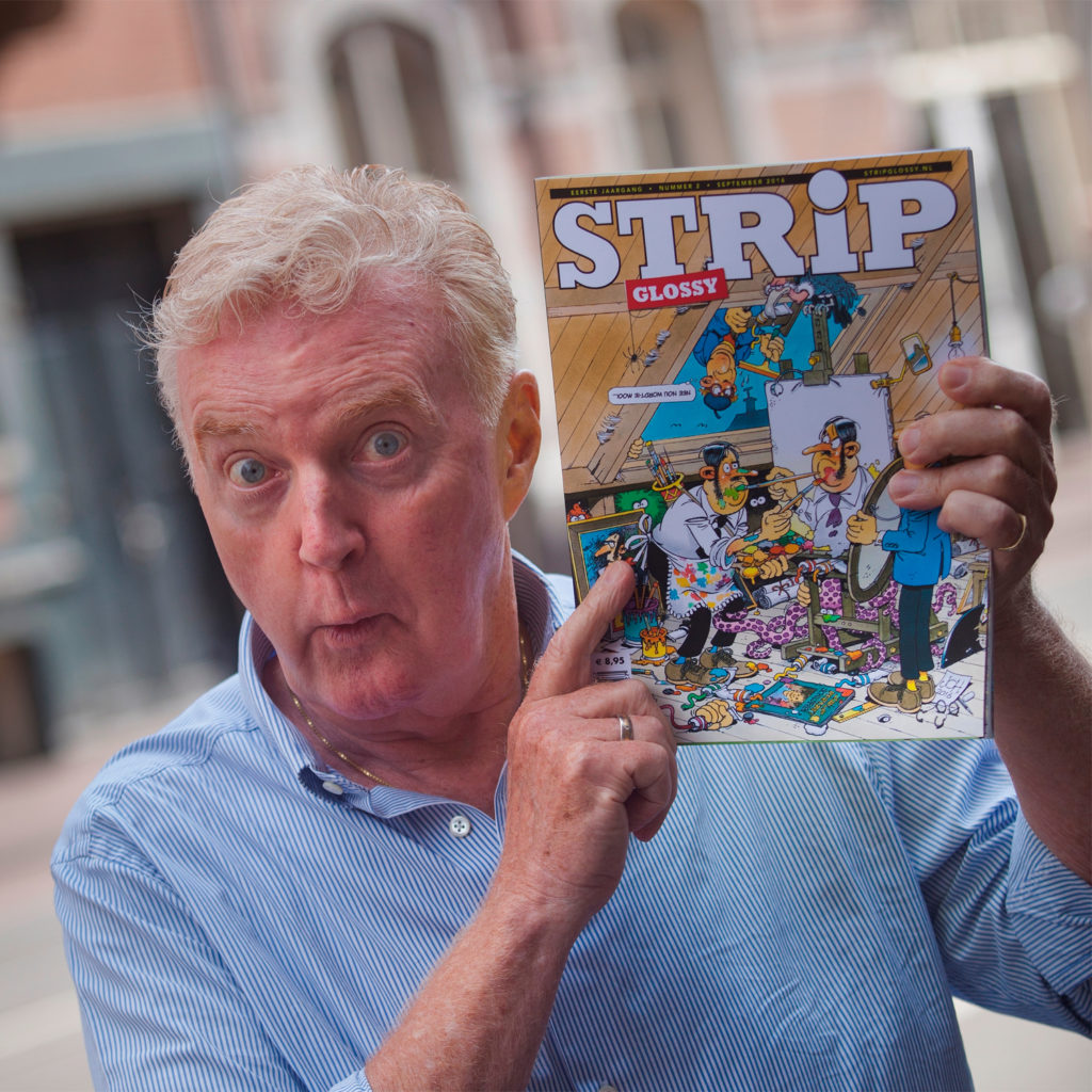 Andre van Duin in de StripGlossy